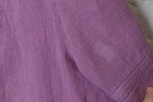 1980's | Saks Fifth Avenue | Oversized Lavender Linen Dress