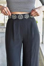 Load image into Gallery viewer, 1990's | Maria Snyder | Silk Pants with Beaded Waist Line