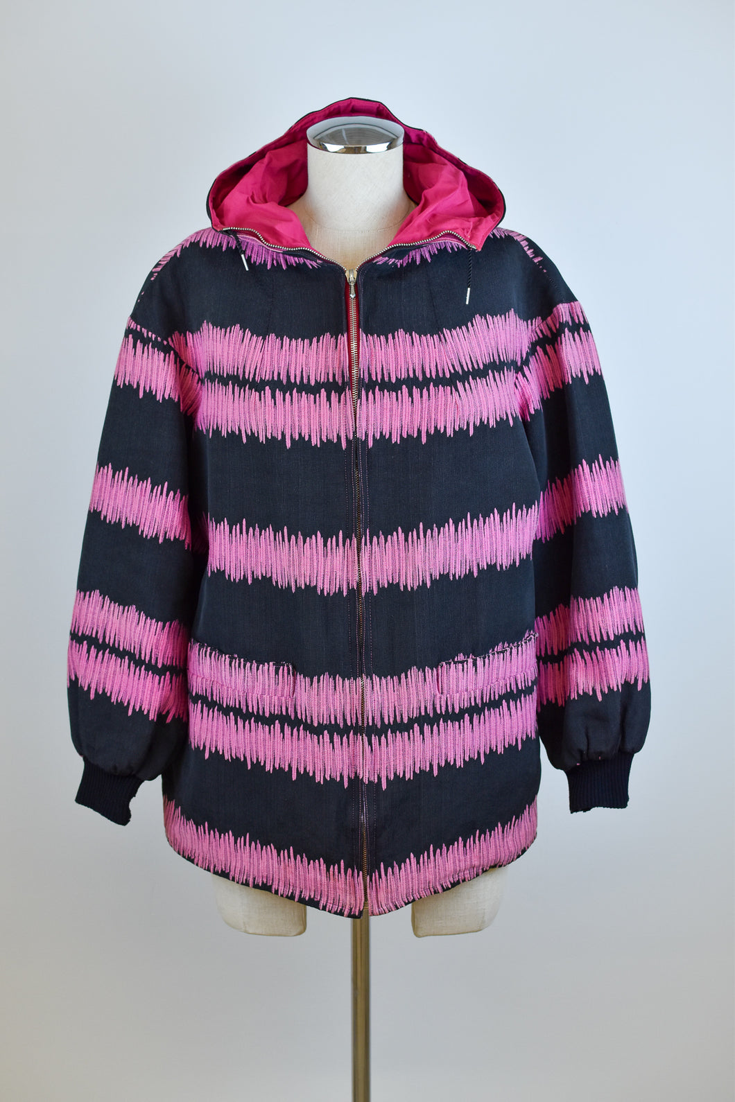 1980's | Croydon | Pink and Black Ski Jacket