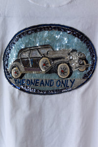 1990's | Colorado | Beaded and Sequined Car Shirt