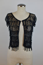 Load image into Gallery viewer, Y2K | Anna Sui for Victoria's Secret | Open Knit Top with Beading