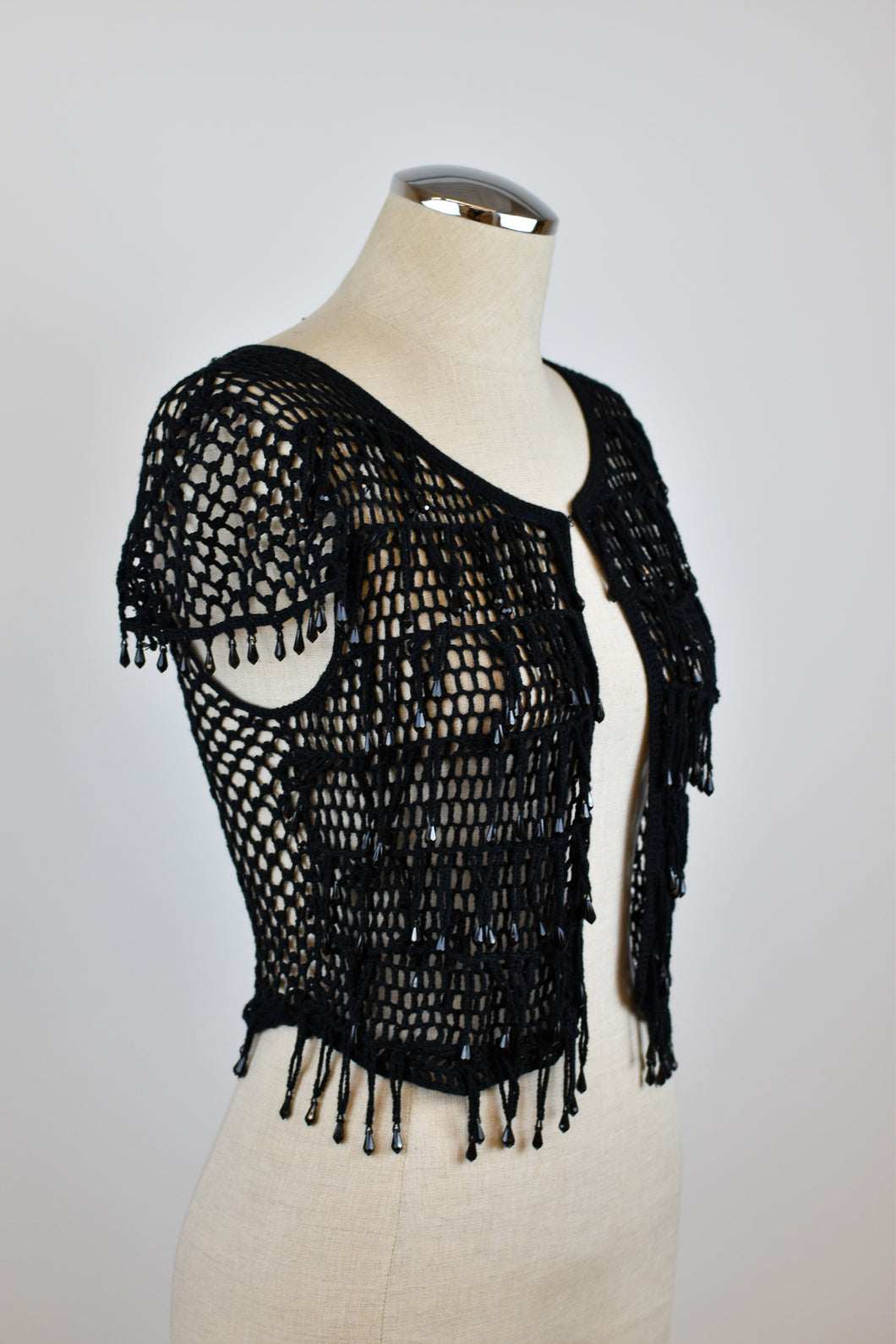 Y2K | Anna Sui for Victoria's Secret | Open Knit Top with Beading