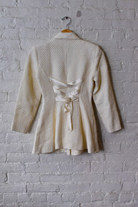 1990's | Chantal Thomass | Quilted Cream Jacket