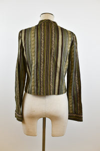 1990's | Rialto Collection by Joy Perreras | Textured Button-up Blouse