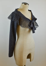Load image into Gallery viewer, 1990's | Angelo Tarlazzi | Knit Shrug with a Crochet Collar