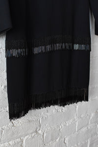 1990's | Valentino | Beaded Fringe Mini Dress