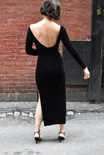 Load image into Gallery viewer, 1990's | Backless Black Velvet Dress