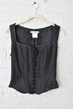 Load image into Gallery viewer, 1990's | Vertigo Paris | Denim Lace Up Corset Top