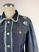 Load image into Gallery viewer, 1990's | Todd Oldham Jeans | Sparkle Dice Demin Jacket