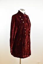 Load image into Gallery viewer, Vintage | Ralph Lauren Country | Burgundy Crushed Velvet Jacket
