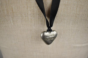 1990's | Todd Oldham|  Pewter Heart Pendant Necklace