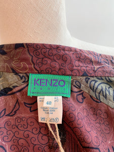 1990's | Kenzo | Gold Floral Print Dress
