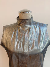 Load image into Gallery viewer, 1980's | Metallic Silver Sleeveless Top