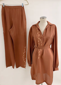 1980's | Judy Hornby | Three Piece Silk Set