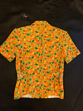 Load image into Gallery viewer, 1990's | Orange Motif Zip Up Top