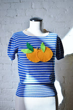 Load image into Gallery viewer, 1990's | Sonia by Sonia Rykiel | Short Sleeve Knit Top with Oranges