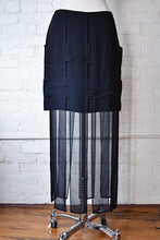 Load image into Gallery viewer, 1990's | Dina Bar-el | Silk Basket Weave Skirt with Car Wash Hem