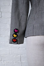 Load image into Gallery viewer, 1990's | Biba | Checkered Heart Blazer