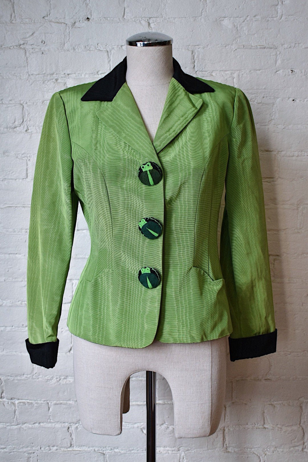 1990's | Moschino | Frog Button Jacket