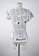 Load image into Gallery viewer, 1990's | John Galliano | Newspaper Print Top