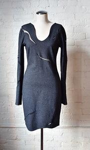 1990's | Krizia | Knit Dress with Mesh Cutouts