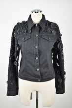 Load image into Gallery viewer, Krizia | Black Denim Jacket with Embellishments