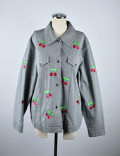 Load image into Gallery viewer, 1990's | Lightweight Gingham Jacket with Embroidered Cherries