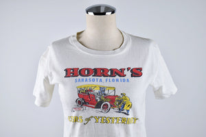 1950's | Souvenir T-Shirt Sarasota Florida | Cars of Yesterday