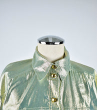 Load image into Gallery viewer, 1990's |  Escada | Gold Lame Button Down