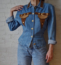 Load image into Gallery viewer, 1990's | Cache | Denim Western Jacket with Corset Lacing