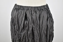 Load image into Gallery viewer, Issey Miyake | Crinkle Pleated Black Column Skirt