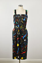 Load image into Gallery viewer, 1970's | 1980's | Paint Splatter Sundress