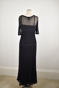 1990's | Vivienne Tam | Mesh and Beaded Dress