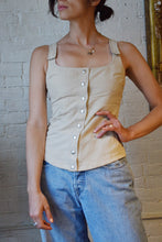 Load image into Gallery viewer, 1990's | Claude Montana | Beige Sleeveless Top with Velcro Straps