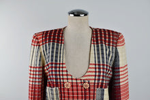 Load image into Gallery viewer, 1990's | Emanuel Ungaro | Plaid Knit Jacket