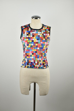 Load image into Gallery viewer, 1990's | Todd Oldham | Deadstock Colorful Square Print Tank Top