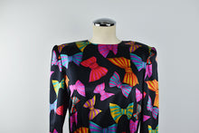 Load image into Gallery viewer, 1980's | Carolina Herrera for Neiman Marcus | Silk Dress with Bow Print