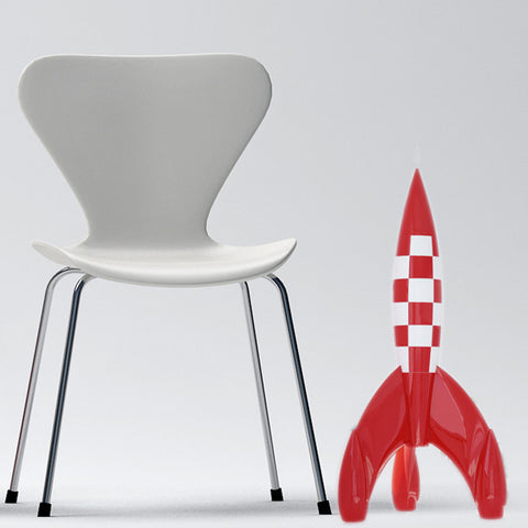 75cm Tintin red and white rocket