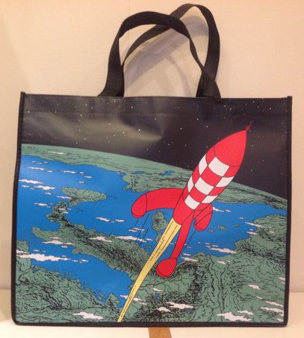 Explorers on the Moon - Tintin Large Shopping Bag - Price includes UK & EU postage.