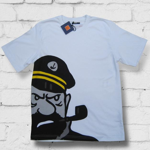 Captain Haddock - 10% Discount on all t-shirts & Sweatshirts Free postage in the UK Free Sheet of Tintin stickers. Free Tintin giftbag..