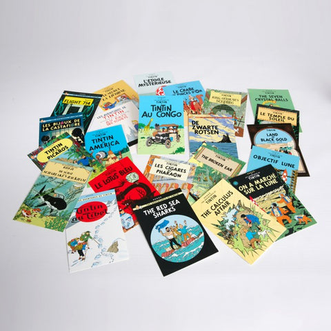 Complete set of 23 book cover postcards. Price includes postage.