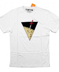 Destination Moon flare triangle - white t-shirt - FREE UK POSTAGE