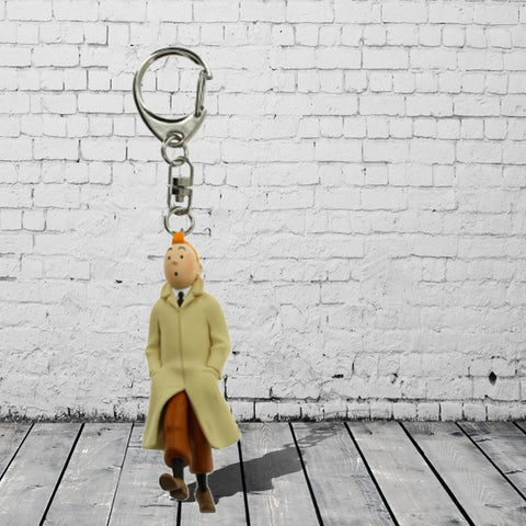Keyrings - Tintin in Raincoat - FREE UK POSTAGE