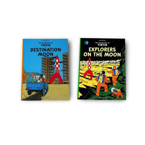 Explorers on the Moon and Destination Moon books