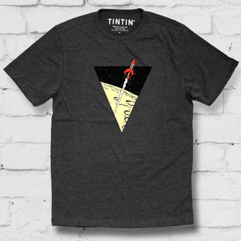 Destination Moon flare triangle - grey t-shirt
