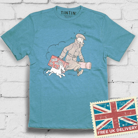 Tintin + Snowy Suitcase t-shirt - Blue