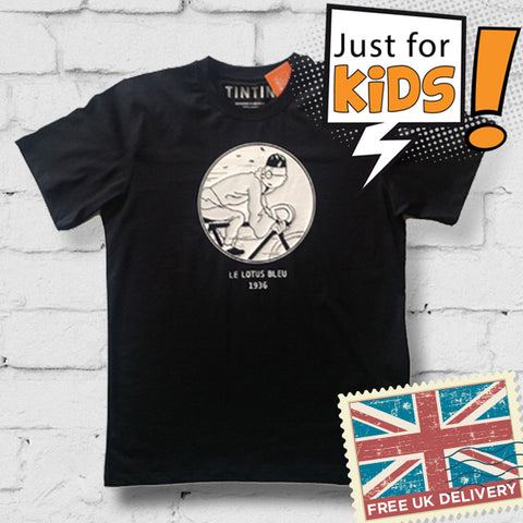 Tintin children's t-shirt range - Tintin Blue Lotus