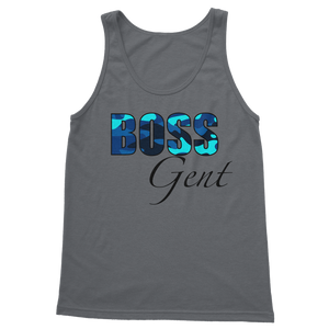 BossGent Blue Tank Top - Crossover Threads