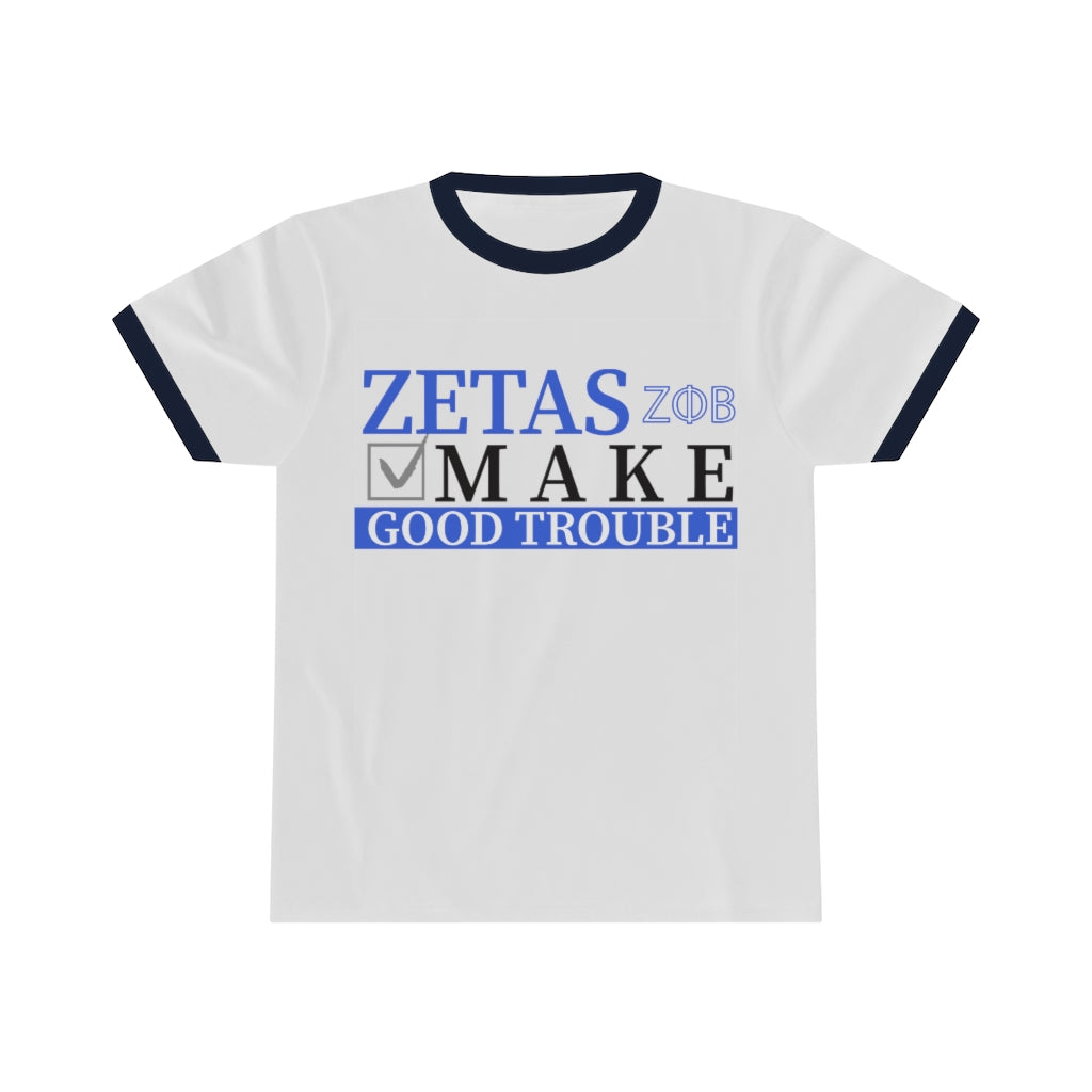 ZETA GOOD TROUBLE Ringer Tee