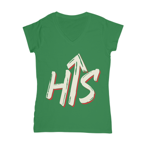his Classic Women's V-Neck T-Shirt - Crossover Threads